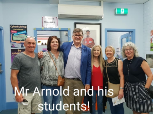 Mr Arnold and his pupils